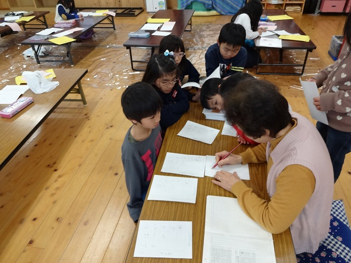 習字教室(徳地先生)